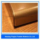 光沢があり、光っている金の静電気のスプレーの粉のコーティング