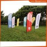 Polyester Feather Flag Utilisation promotionnelle Publicité Flag Banner
