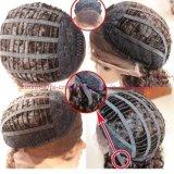 parrucche piene diritte crespe del merletto dei capelli umani delle parrucche della parte anteriore del merletto del merletto del grado 8A dei capelli umani delle parrucche dei capelli peruviani pieni del Virgin per le donne di colore
