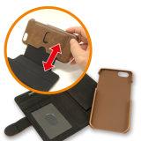 Случай сотового телефона изготовленный на заказ аргументы за бумажника кожи Flip передвижной