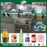 Automática funcional de la máquina de etiquetado de botellas redondas