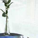 Rideau fin en voile solide de toile à la mode neuve de coton (18F0100)