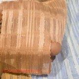 Tecido de poliéster Tingido Tecido Jacquard Fibra Química Tecido de poliéster de prata Tecido tecido para vestido de mulher Vestido completo Têxtil doméstico