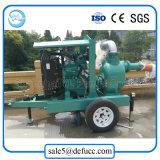 Pompe à ordures à moteur diesel 8 pouces avec remorque