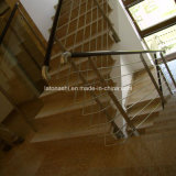 China lustrou escadas amarelas do granito G682 para a etapa/montante