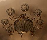 홈 호텔을%s 고대 구리 & 유리 펀던트 빛