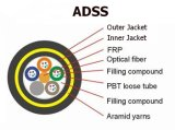 Вс-Диэлектрик кабеля оптического волокна ADSS напольный с Собственн-Поддерживает кабель для воздушных линий