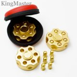 Hilanderos de la mano del metal del oro del diseño del sostenedor del punto negro