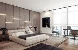 Base gigante de cuero gris moderna nórdica para el dormitorio casero (HC569)