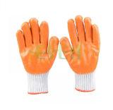 13gauge gestrickter Zwischenlage-Palmen-Latex-überzogene Handschuh-orange Latex-Gummihandschuh-Tageszeitungs-Arbeitshandschuh