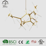 Estilo italiano Suspensão de metal e vidro Art Restaurant G9 LED Branch Pendant Light