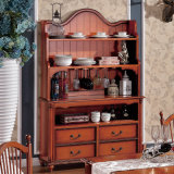 American Style Cabinet Wine Rack avec tiroir (GSP19-006)