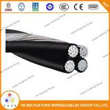 Conducteur d'aluminium / Câble d'antenne Triplex à commande d'aluminium