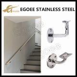 304 suportes montados ajustáveis do corrimão dos trilhos da escada do aço inoxidável