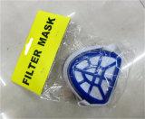 Masque de filtre non tissé Masque anti-poussière en plastique de couleur bleue