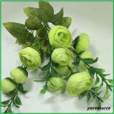 Silk künstliche Blumen-Fälschungs-rote Rosen-Blumen für Haupthochzeits-Dekoration