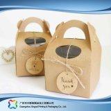 Cadre de empaquetage pliable environnemental de papier d'emballage pour le gâteau de nourriture (xc-fbk-046)