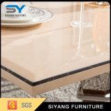 Ensemble de table à manger en acier inoxydable Table à manger en marbre