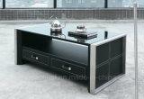 Журнальный стол мебели металла с Tempered стеклом (CT-V1)