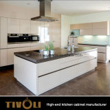 指の引きデザインAustrlia様式の平野の白い台所家具(AP109)