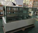Het de marmeren Koeler van de Bakkerij van de Basis/Kabinet van de Vertoning van het Gebakje/Erkend Ce van de Ijskast van de Cake (r780v-m2)