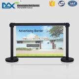 Gz Aleación de aluminio de máxima exposición Publicidad Banner Display Stand Cafe barrera viento