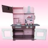 La cocina de madera para los cabritos, juguete determinado del juguete del nuevo producto de la cocina de madera encantadora para los niños, finge el juego de la cocina del juguete fijado para la venta