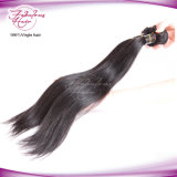 естественные черные индийские прямые человеческие волосы девственницы 8A