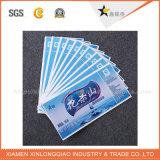 Autoadesivo di carta trasparente impermeabile su ordinazione di promozione del contrassegno di stampa di vendita di figura