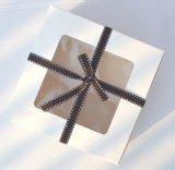 Boîte cadeau en papier Kraft pour fenêtre en PVC, Boîte à emballage en papier simple