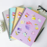 Impressão personalizada em espiral de notebook em PVC / PP de alta qualidade