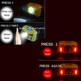 屋外の動きセンサーライトが付いているABSプラスチックUSBの料金のヘッドライト