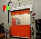 リモート・コントロール建築材料の機密保護の最高速度PVC折るアルミニウムドア(HzFC05623)