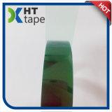 Cinta verde del silicón del claro de la película de poliester que corta con tintas