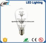 LEDワイヤーは工場省エネST64 E27 4W LEDフィラメントの蝋燭の球根をつける
