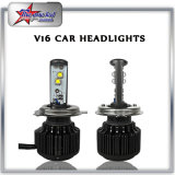 Изготовление фары СИД для всеобщего автомобиля, фары одиночного и двойного луча СИД Headlamp H4 с вентилятором