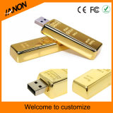 Mecanismo impulsor de oro del flash del USB de la barra para la venta caliente del asunto