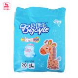 Nueva Impreso Embalaje patrón encantador animal del bebé bolsa de pañales desechables