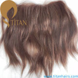 Encerramento frontal do laço do cabelo humano indiano para mulheres femininas elegantes