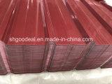 PPGI acanalado galvanizado prepintado para el azulejo de material para techos del metal
