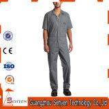 Combinaison grise personnalisée de travail de sergé de polyester de coton de mode