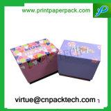 Rectángulo de regalo de papel de empaquetado modificado para requisitos particulares lujo de la cartulina LED