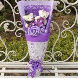 Oso del juguete del día de madre del regalo de la promoción con la flor