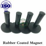 Magnete rivestito di gomma permanente personalizzato di NdFeB con la maniglia