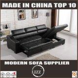 Кровать софы черной мебели неподдельной кожи Storable (LZ710)