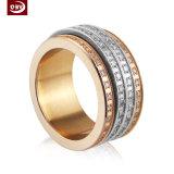 Peça feita à máquina revestimento de galvanização do CNC do ouro de Rosa do diamante para o anel