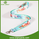 Neck Flat Christmas Ribbon Lanyard with Heat Sublimation Wholesale