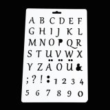 Pochoir Alphabet des lettres de l'artisanat pour le scrapbooking