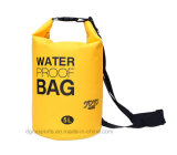 Sacchetto asciutto del sacco su ordinazione impermeabile leggero di marchio con la cinghia di spalla