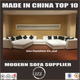 Sofá grande de la sala de estar del tamaño (LZ-229)